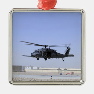 An HH-60G Pave Hawk taking off from Camp Bastio Christmas Ornament