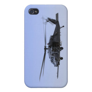 An HH-60G Pave Hawk taking off from Camp Bastio iPhone 4 Covers