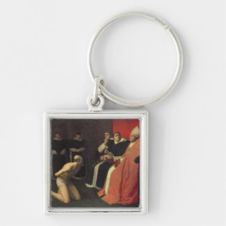 An Honourable Penitent, c.1868 Silver-Colored Square Key Ring