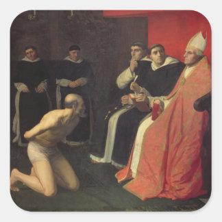 An Honourable Penitent, c.1868 Square Sticker