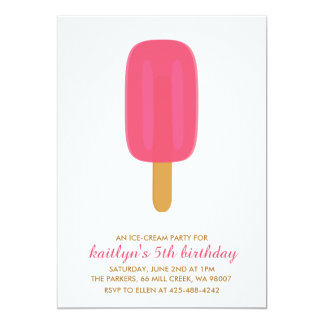 An Ice-Cream Party Kid's birthday party Invitation