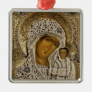 An icon showing the Virgin of Kazan Christmas Ornament