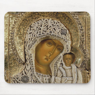 An icon showing the Virgin of Kazan Mouse Mat