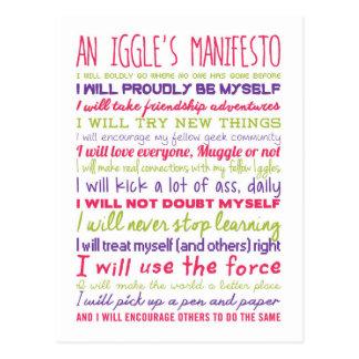 An Iggle's Manifesto Postcard