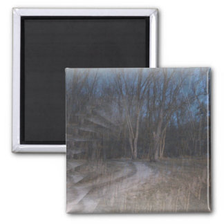 An Illusion Of The Woods-Halloween Gesture Square Magnet