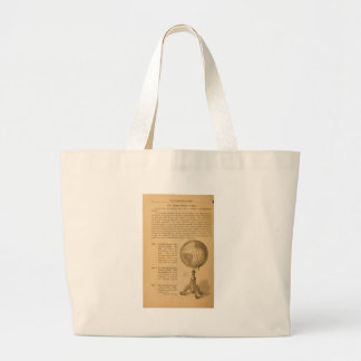 An illustrated manual for the use of the globe large tote bag