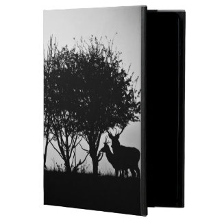 An image of some deer in the morning mist cover for iPad air