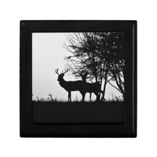 An image of some deer in the morning mist gift box