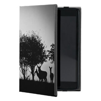 An image of some deer in the morning mist iPad mini cover