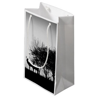 An image of some deer in the morning mist small gift bag