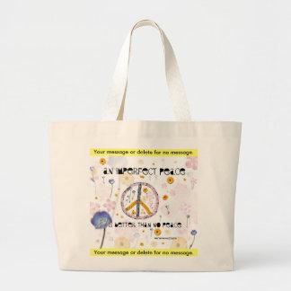 'An Imperfect Peace' - Canvas Bag - Customize