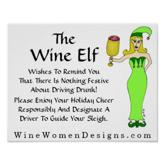 An Important Message from The Wine Elf Poster