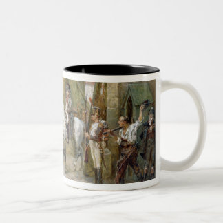 An Incident in the Peninsular War - Napoleon Enter Two-Tone Coffee Mug