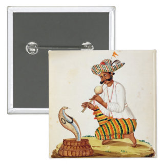 An Indian Snake Charmer with a Cobra, from a Frenc Pin
