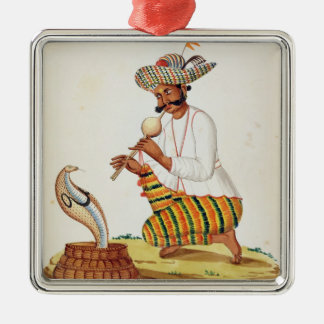 An Indian Snake Charmer with a Cobra, from a Frenc Christmas Ornament