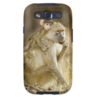 An infant Yellow Baboon(Papio Galaxy S3 Case