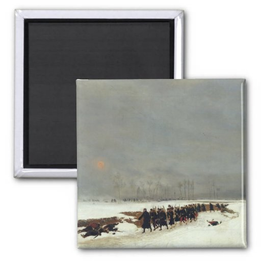 An Infantry Column on their Way to a Raid Refrigerator Magnets