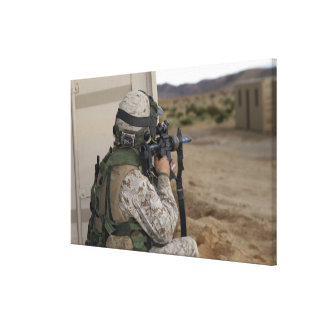 An infantry scout canvas print
