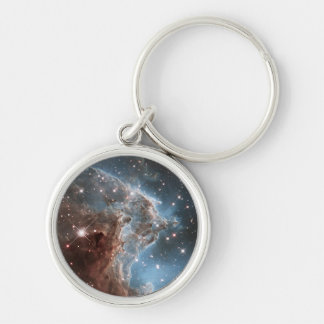 An Infrared Look at a Nearby Star Factory Silver-Colored Round Key Ring
