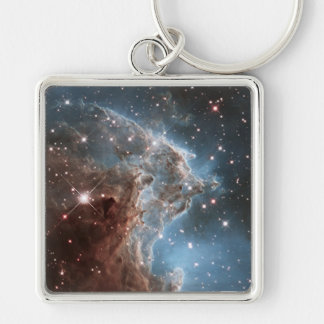 An Infrared Look at a Nearby Star Factory Silver-Colored Square Key Ring