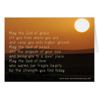 An inspiring prayer for those who are struggling greeting card