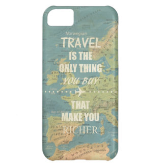 An inspiring travel quotes case for iPhone 5C