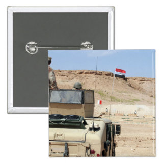An instructor watches as an Iraqi army soldier 15 Cm Square Badge