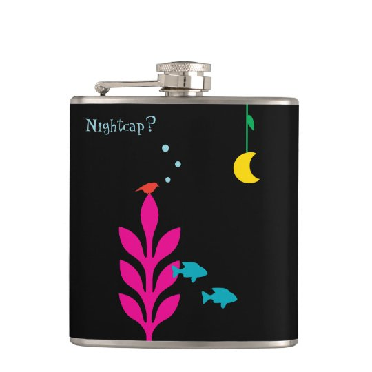 An Interesting Night Customisable Template Hip Flask