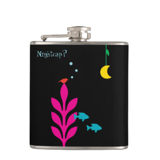 An Interesting Night Customizable Template Hip Flask