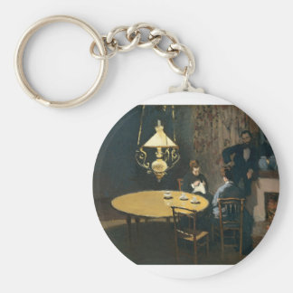 An Interior after diner (1868-1869) Basic Round Button Key Ring
