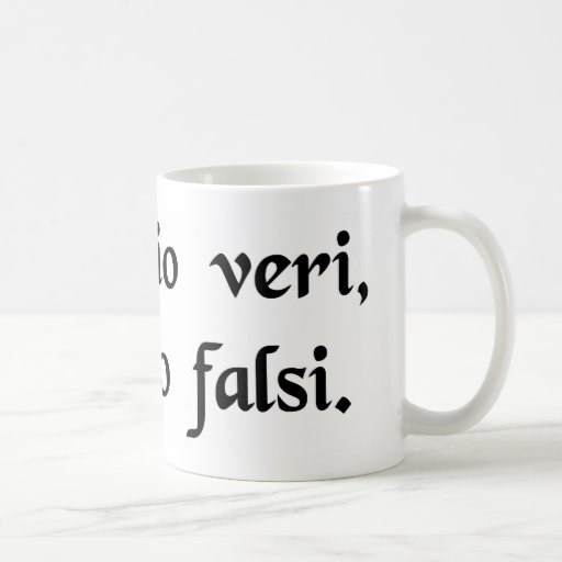 An intimation of truth, an intimation of falsity. mug