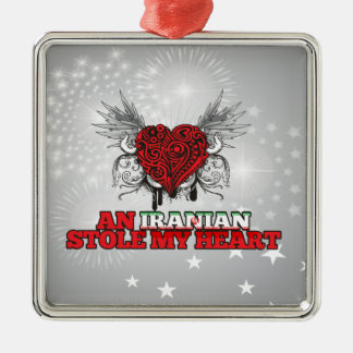 An Iranian Stole my Heart Christmas Ornament