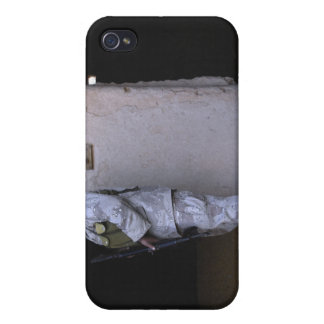 An Iraqi army soldier checks a storage room iPhone 4/4S Cases
