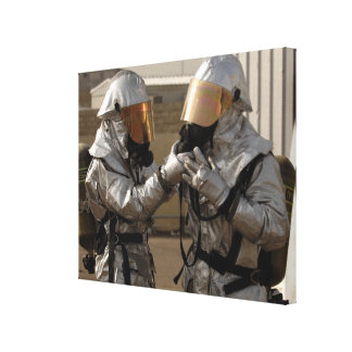 An Iraqi firefighter Stretched Canvas Prints