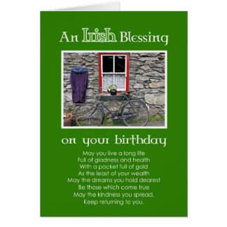 An Irish Blessing on your Birthday Greeting Card