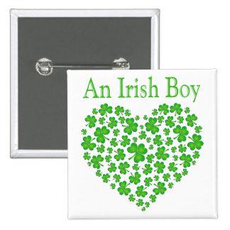 An Irish Boy 15 Cm Square Badge