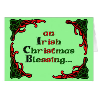 An Irish Christmas Blessing... Greeting Card