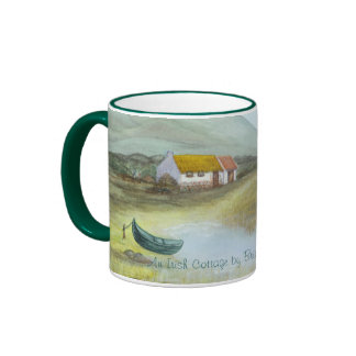 """An Irish Cottage"" by Brigid O'Neill Hovey Coffee Mug"