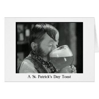 An Irish Drinking Toast Cards