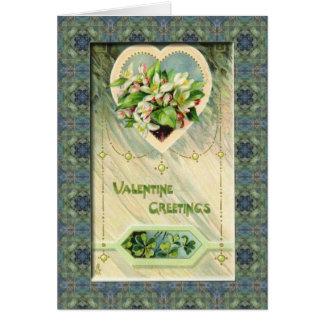 "an irish ""four leaf clover"" Valentine Greetings Card"