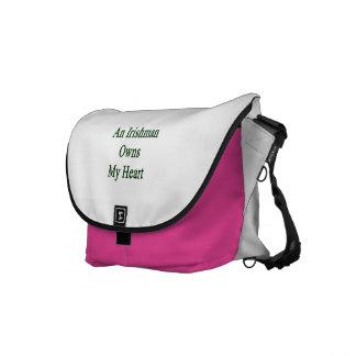 An Irishman Owns My Heart Messenger Bags