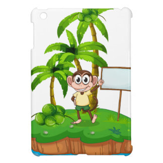 An island with a monkey and a signboard iPad mini cases