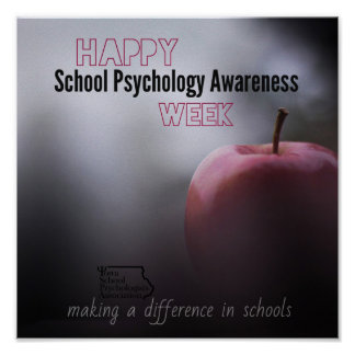 An ISPA School Psychology Week Door Poster