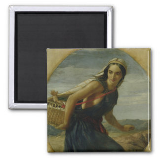 An Israeli Mother, 1857/1860 Square Magnet