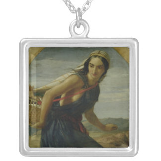 An Israeli Mother, 1857/1860 Silver Plated Necklace