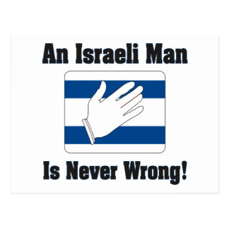 An Isralei Man Is Never Wrong Postcard