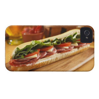 An Italian sub sandwich with 2 Case-Mate iPhone 4 Case