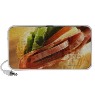 An Italian sub sandwich with iPod Speakers