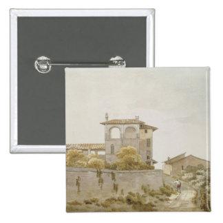 An Italian Villa 15 Cm Square Badge