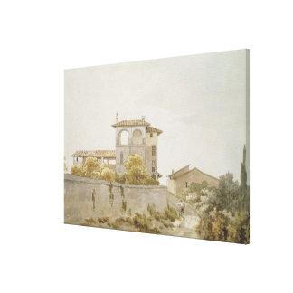 An Italian Villa Canvas Print